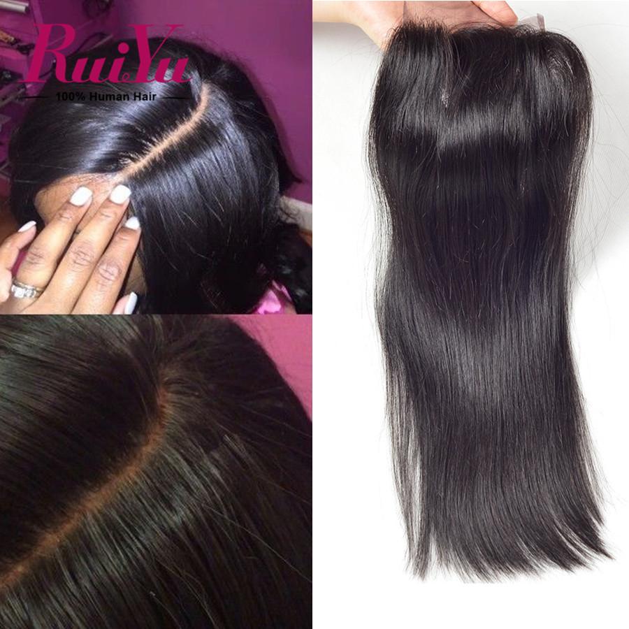 Affordable 4*4 6A Brazilian virgin hair straight closure<br><br>Aliexpress
