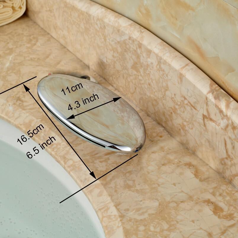 Купить На бортике Широкое Водопад Ванной Кран Хром Латунь Туалет Раковина Смеситель Краны