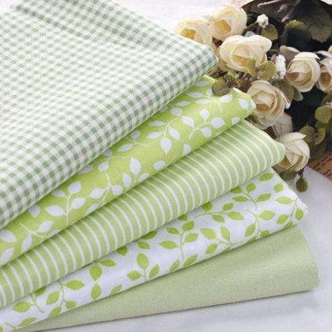 5 PCS 40cmX50cm Green Floral Cotton Fabric For Sewing Patchwork quilting Doll Bedding Fabric home textile(China (Mainland))