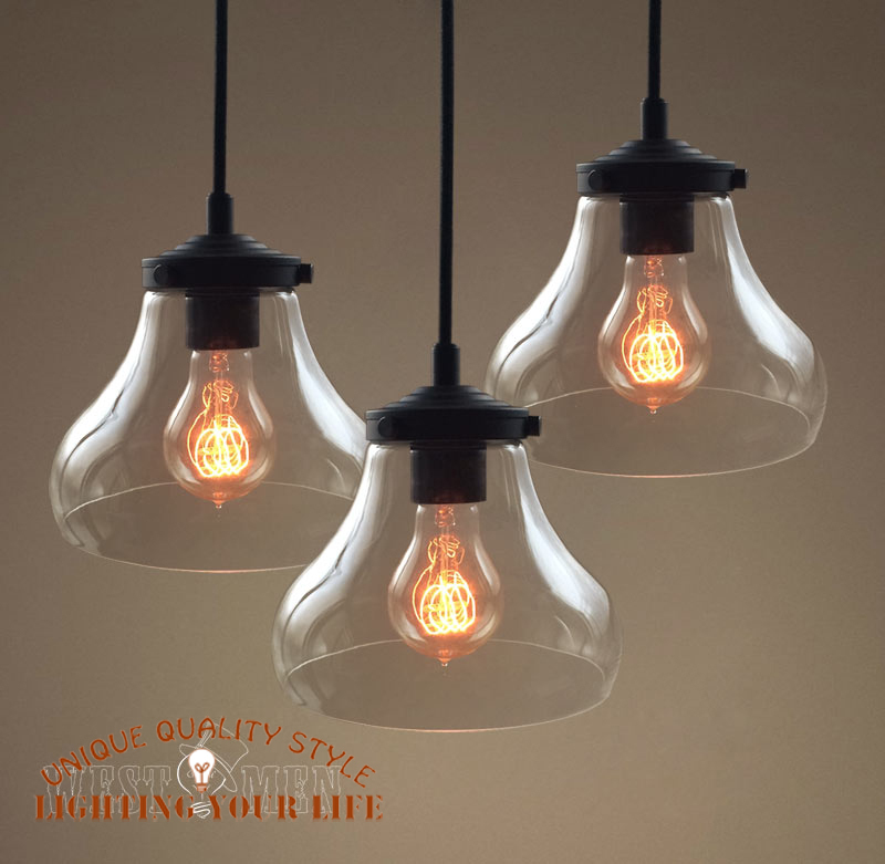 Handmade Glass Pendants Pendant Lamp Clear Glass
