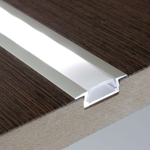 Flush Mount Aluminium Recessed LED Strip Light Profile Housing Under Cabinet 0-300cm With Opal And Clear Cover Lens Free Ship(China (Mainland))
