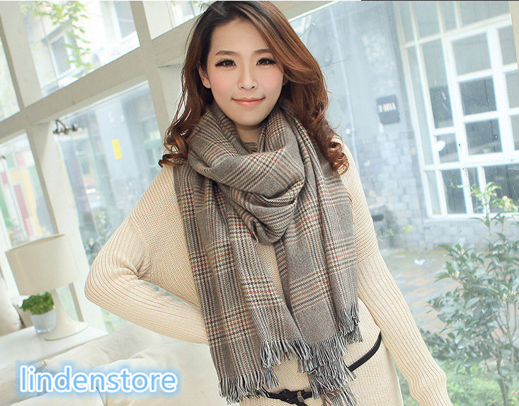 The new Autumn/winter Thickening plaid scarves New England style ladies scarf 1406077(China (Mainland))