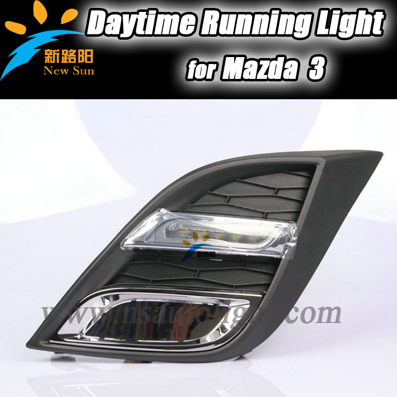 Factory direct sale!!! LED DRL for Mazda 3 LED Daytime Running Lights Auto led light<br><br>Aliexpress