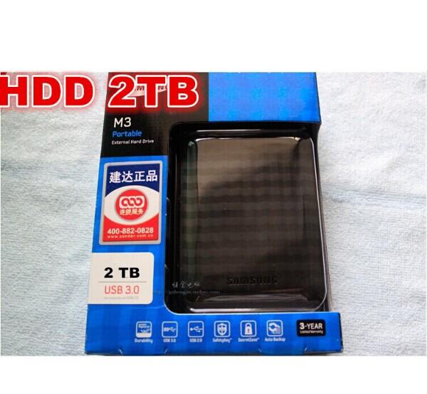 "NEW Samsung M3 2.5"" USB3.0 External Hard Drive 2TB Black HDD Portable disk Hot sales 3 Year Warranty(China (Mainland))"