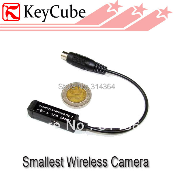 Smallest 2.4GHz wireless mini camera tiny camera wholesale price built-in Mic Cam CM200 Free Shipping(China (Mainland))