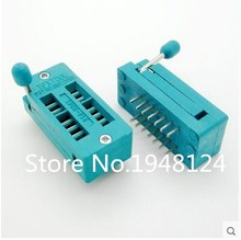 Buy 2PCS IC Test Universal ZIF Socket 14pin 14 pin dip 2.54mm IC Socket pitch for $1.30 in AliExpress store