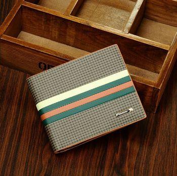 Дизайнер джентльмен свободного покроя бизнес кошельки зажимы для денег лакированная ...