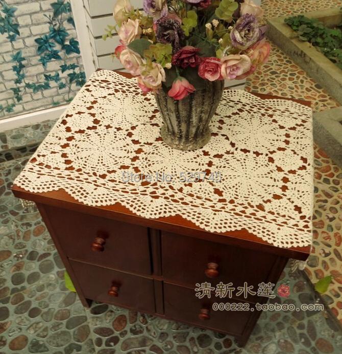 Christmas Decorations Handmade Crochet Flowers Oval Table