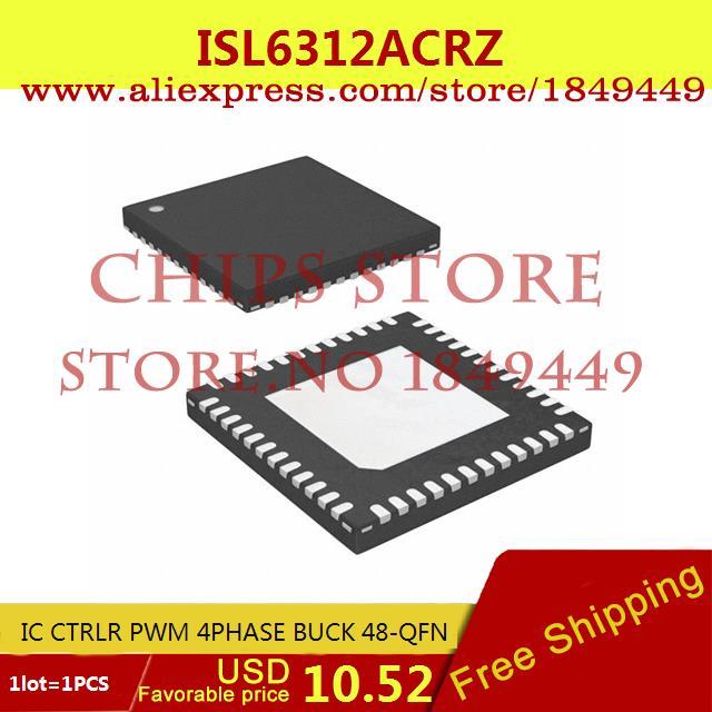Бесплатная Доставка Электронных Компонентов ISL6312ACRZ IC CTRLR PWM 4 PHASE BUCK 48-QFN 6312 ISL6312 1 ШТ. isl6262 isl6262acrz isl6262 acrz