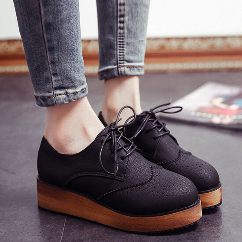 Wholesale New Arrival 2015 Women Shoes Casual British Round Toe ...