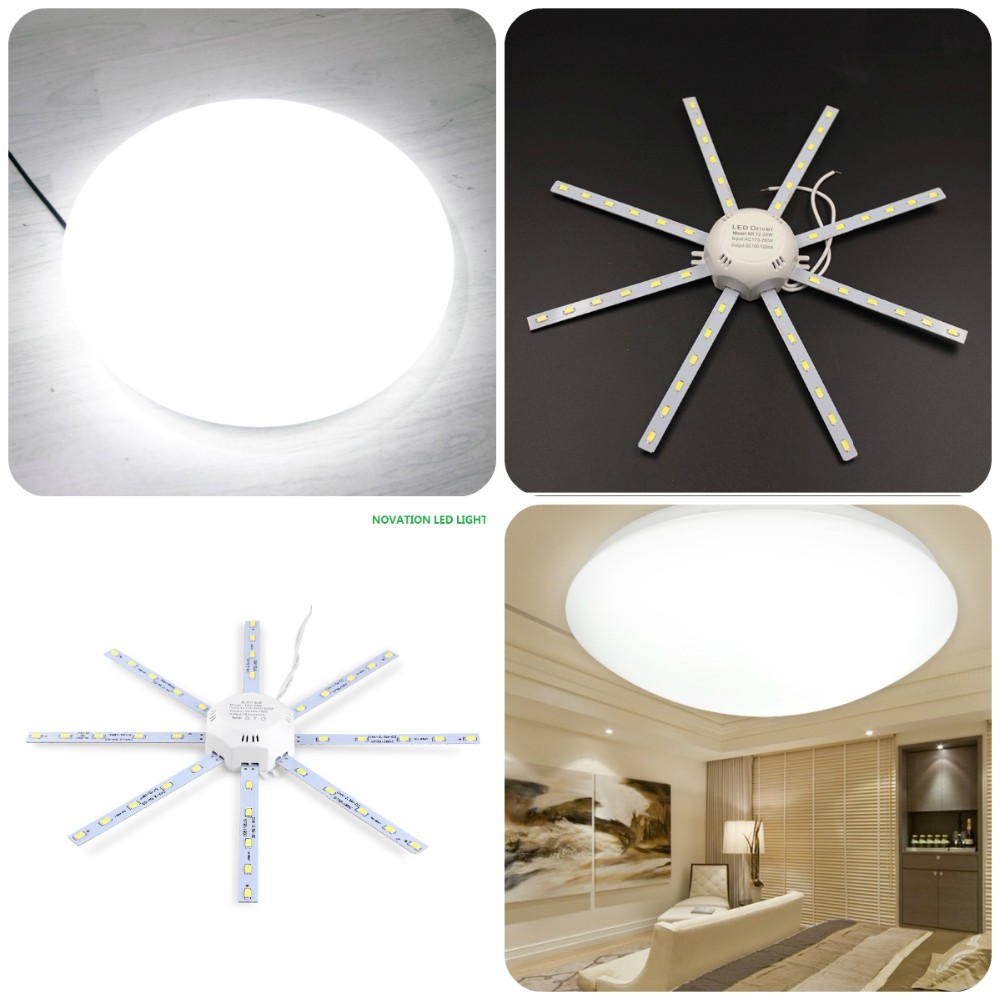 LED Light board 220v LED Lamp Board LED Celling Lamp 5730SMD 12W/16W/24W High Bright White Octopus Round Kitchen Bedroom Light