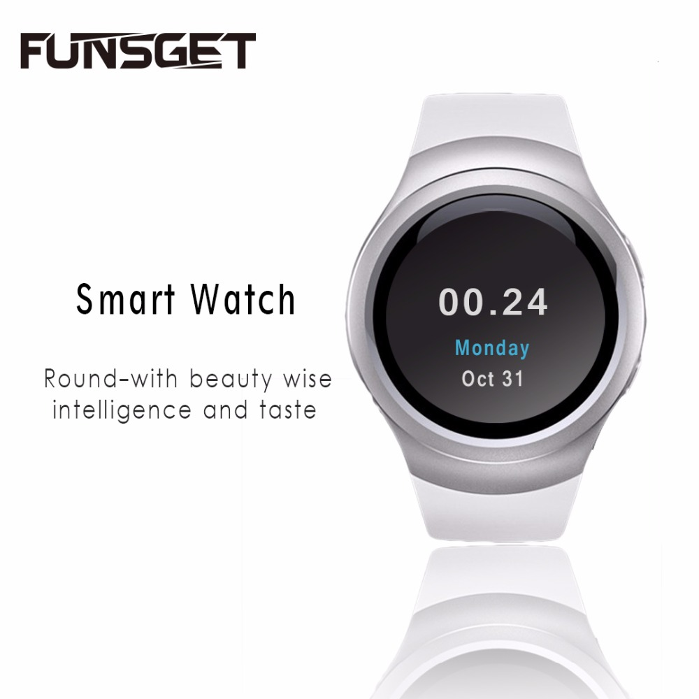 Funsget Smart Watch Bluetooth Wrist watch Mobile Phone Touch Screen English Russian Spanish language for iphone Android Device(China (Mainland))