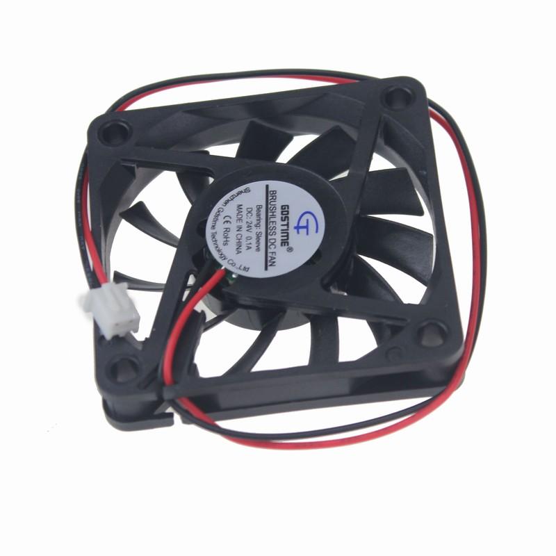 1 Pieces Lot Gdstime 2Pin DC 24V 24 Volt 60mm 6cm 60x60x10mm Brushless Cooler Cooling Fan(China (Mainland))