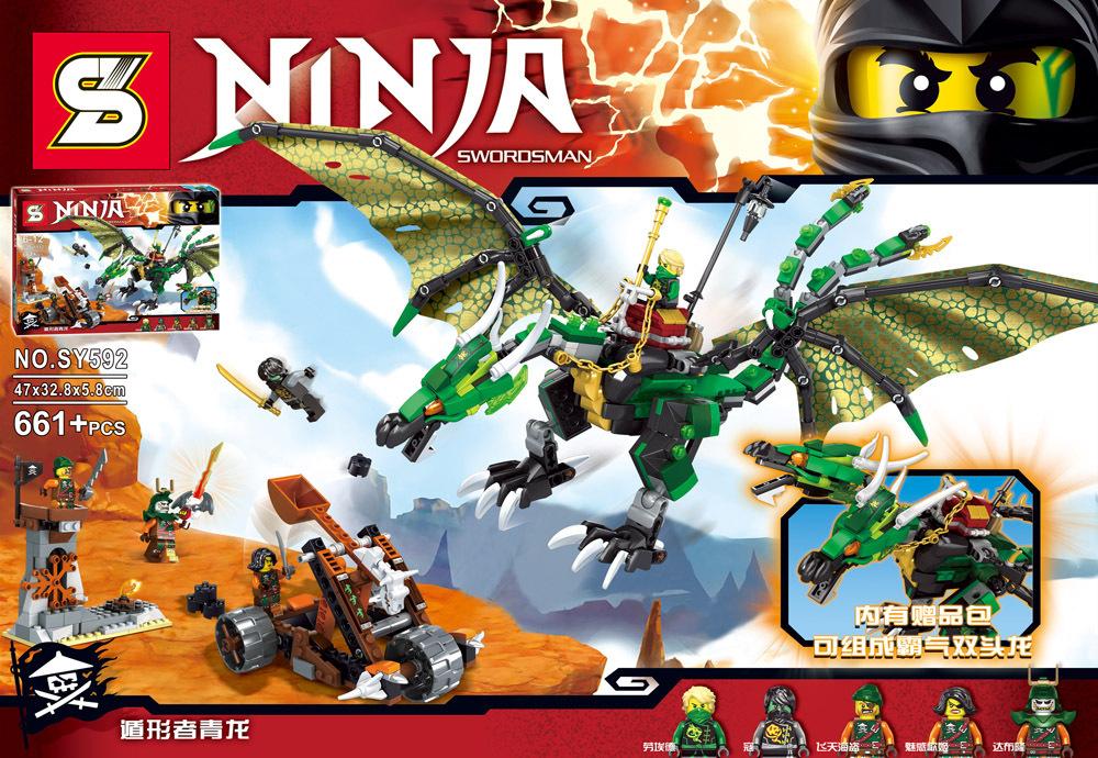green NRG dragon ninjagoes building block ninja Lloyd Cole pirate Doubloon Cyren Bucko minifigures compatible lego70593  -  ToysKingdom store