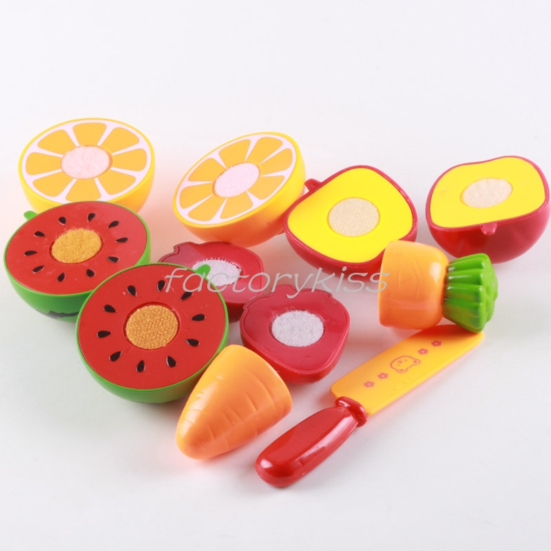 Kitchen Toys Cooking Toys Classic Kids Pretend Role Play Fruit Vegetable Food Toy Cutting Set [4 4008-679](China (Mainland))