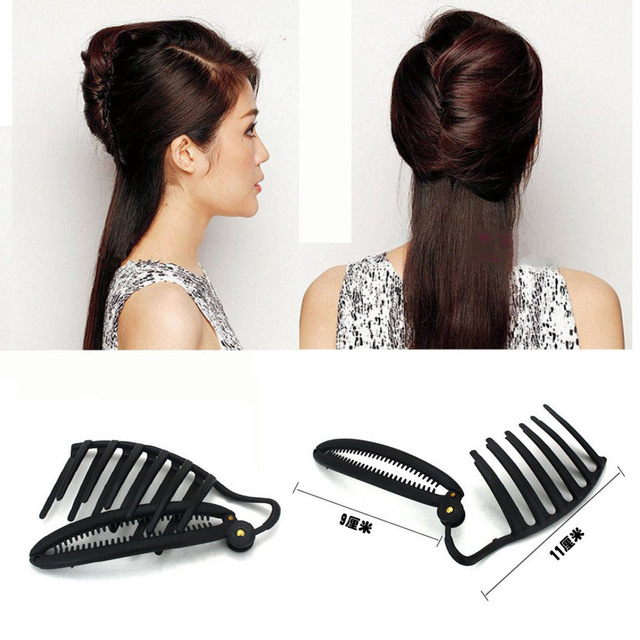 11CM Women DIY Formal Hair Styling Updo Bun Comb And Clip Tool Set For Hair French Twist Maker Holder(China (Mainland))