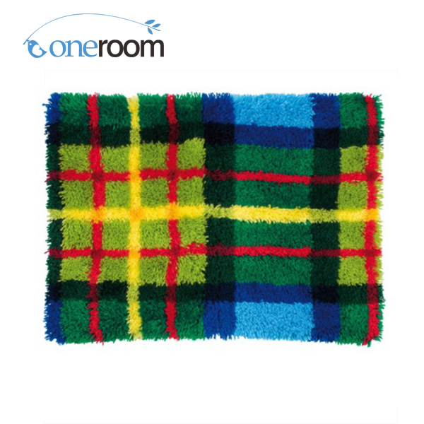 Zd345 Colourful Patterns Oneroom Hook Rug Kit Diy Unfinished Crocheting Yarn Mat Latch