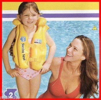 Inflatable Kids Safe Aid Swim Vest Life Jacket