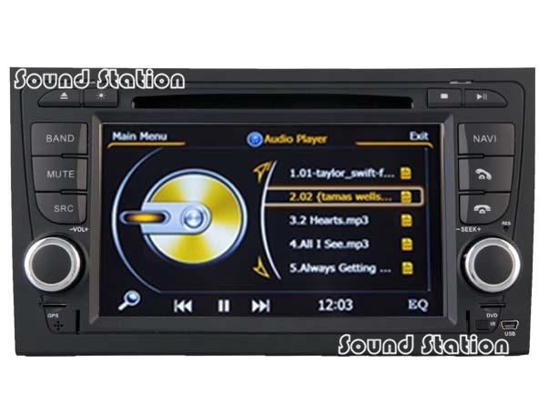 For Audi A4 S4 RS4 Car DVD GPS Navigation Media Stereo USB SD Radio Audio Video Central Multimedia Multimidia Autordio HeadUnit(China (Mainland))