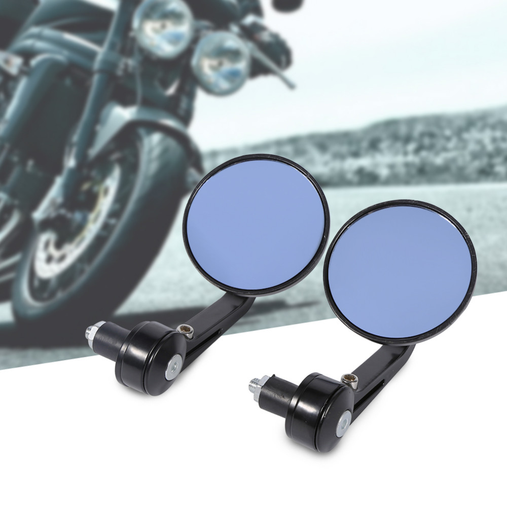 New 7/8″ Universal Round Motorbike Motorcycle Rear View Handle Bar End Rearview Side Mirrors Chrome Rear View Handle Bar