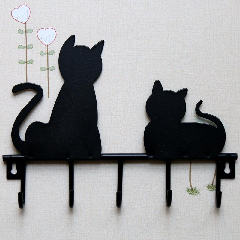 Buy Fashion Black Cat Design Metal Iron