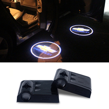 LED Car Door Welcome Logo Light Laser Projector For Chevrolet Cruze Aveo Captiva Lacetti Sail Sonic Camaro Orlando Epica Corsa(China (Mainland))