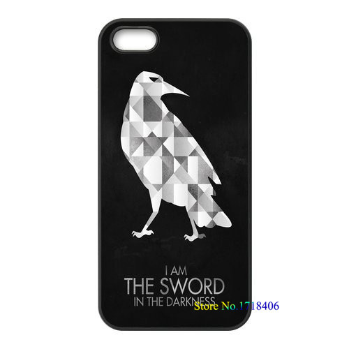 Game of Thrones Night Watch Jon Snow fashion cell phone case cover for iphone 4 4s 5 5s 5c SE 6 6s & 6 plus 6s plus #4931an(China (Mainland))