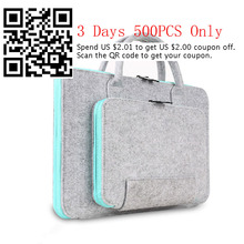 new wool felt 11 13 15 17 Inch laptop bag sleeve for macbook Air 11.6 Pro13.3 inch briefcase fashion recreation bag wholesales
