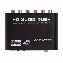 High quality Audio Gear Digital Dolby DTS/AC-3 Optical to 5.1-Channel RCA Analog Sound Decoder SPDIF