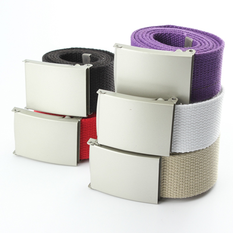 Fashion Cotton Canvas Belts for Mens Cintos Plain Webbing Boys Women Candy Color Waist Belt Waistband