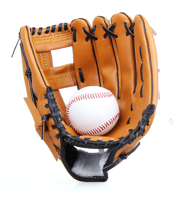 High quality practice baseball glove Synthetic Leather Child Young Adult gift Ball 3color 1pcs free shipping(China (Mainland))