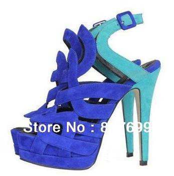 sexy suede cut outs roman style high heel platform sandals china shoe manufacturer