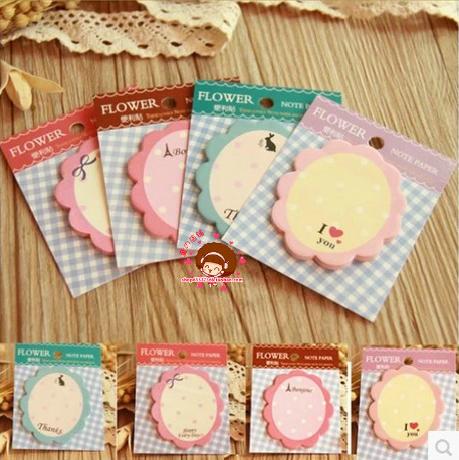 Гаджет  Minimum order $10(Mix order)Cute Flowers Memo Pad Sticky Note Paper Scrapbooking Sticker Pads Creative Korean Stationery  None Офисные и Школьные принадлежности