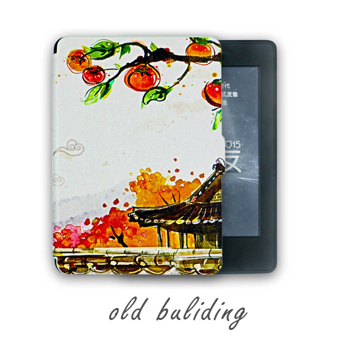 Kindle Paperwhite,Old Building Design Skin,Lighted Slim Leather Cover Fit Kindle Paperwhite 3 2013 2015 6th generation<br><br>Aliexpress