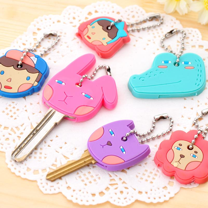 2015 The New Listing Novelty Items Cute Anime Cartoon Silicone Key Cover Key Caps For Women Gift(China (Mainland))