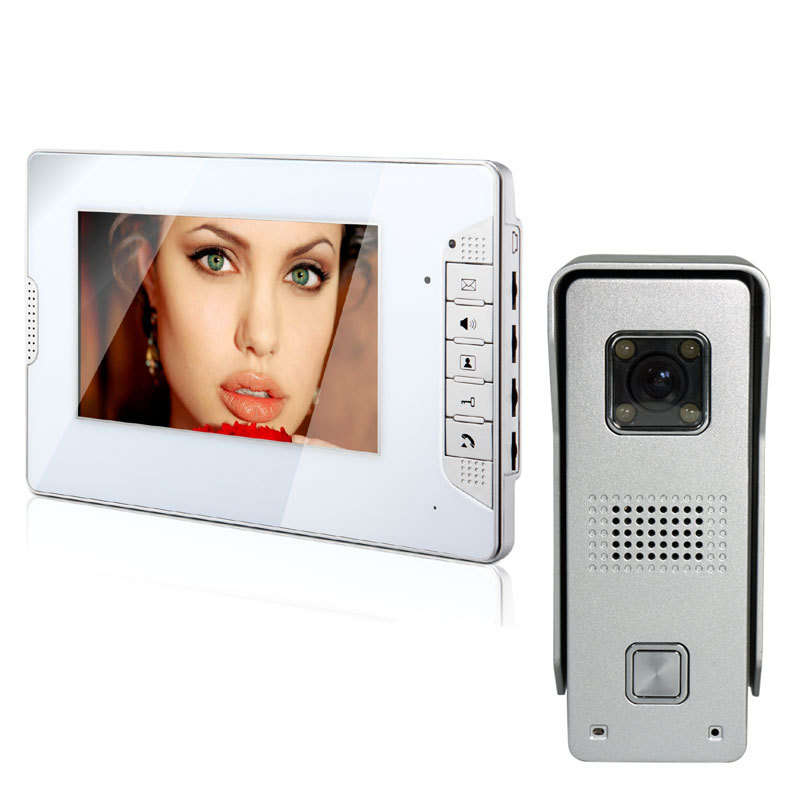 7inch TFT Touch Screen Color Video Door Phone Intercom Access System 700TVL Rain Proof Security Camera<br><br>Aliexpress