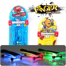 2pcs Mini Light Skateboard Toys Fingerboard Skateboard Tech Boy Kids Children Gifts Kid Toys Creative Toys Free Shipping(China (Mainland))