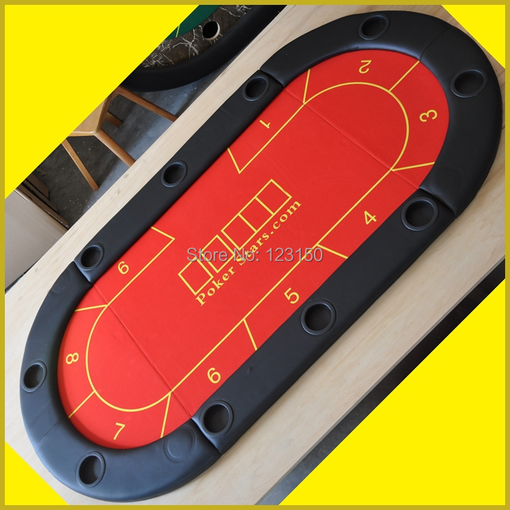 TP-01 Size 90*180CM, Poker Table Top, foldable Casino tabletop, Three fold with waterproof fabric(China (Mainland))