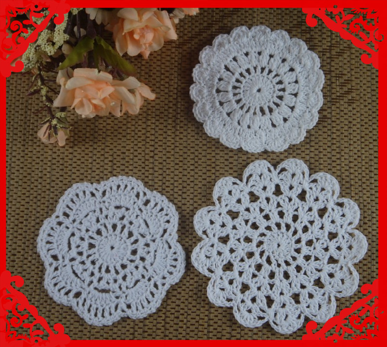 Crochet Patterns Round : Free Shipping Wholesale Round Crochet pattern Doily hand ...
