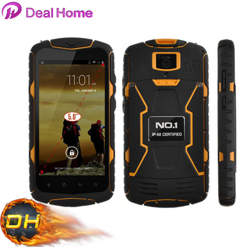 New arrival!100% Original NO.1 X1 X-Men IP68 MTK6582 Quad Core 8GB ROM Waterproof Shockproof Android 4.4 mobile phone/Avil(China (Mainland))