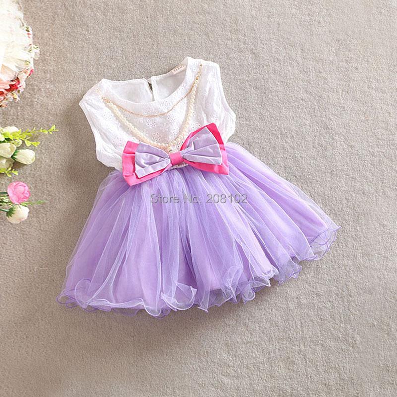 2T-5T 2014 Fashion Summer Little Girls Vestidos Dress Kids Girl Evening w Bowknot Tutu Dresses Costume - Anime Cosplay Bikini Store store