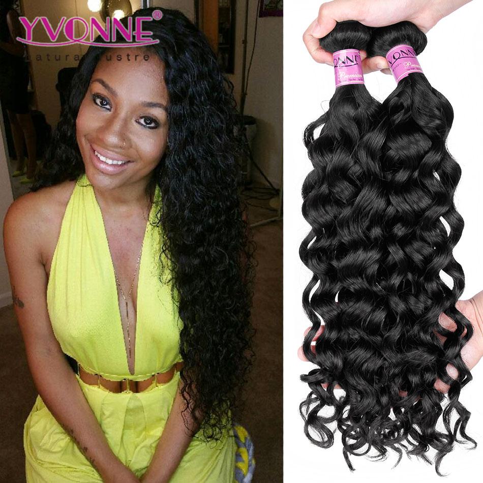 3Pcs/lot Peruvian Virgin Hair,Fashion Italian Curly Human Hair Weave,Aliexpress Yvonne Peruvian Curly Hair,Color 1B(China (Mainland))