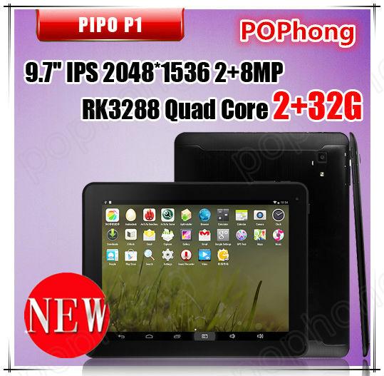F Original mini Pad Pipo P1 RK3288 Quad Core Tablet PC 9.7inch Retina 2048x1536 2G RAM 32GB ROM Android 4.4 GPS 10000mAh(China (Mainland))