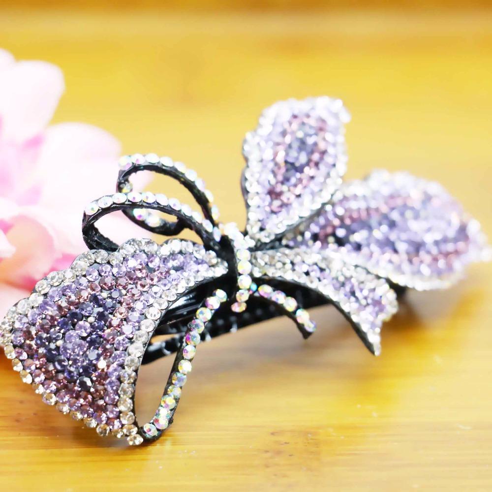 43x90mm Hair Accessory Hair Clip Wedding Headdress Bridal Head Bands Headband Inlaid Rhinestone Clamps Jewelry Making(China (Mainland))