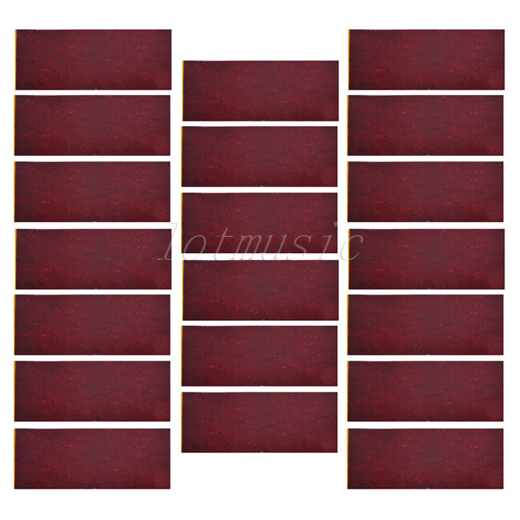 20pcs 18*46cm Adhesive Acoustic Pickguard Material Scratch Plate Soft Coffee Red(China (Mainland))