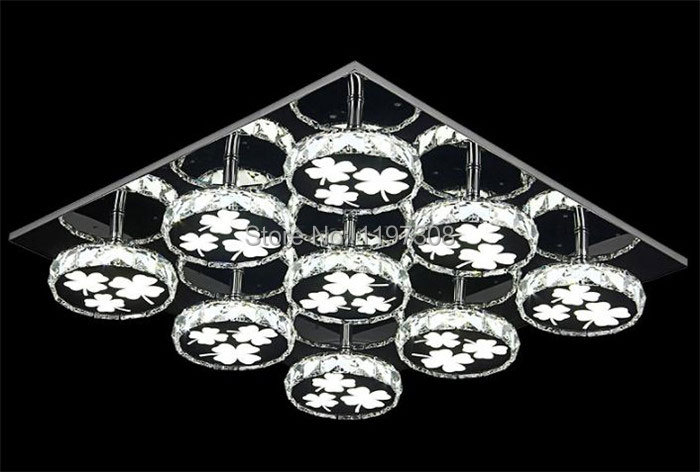 Modern Ceiling Lamp Crystal Led Ceiling Lamp Living Room Lamparas De Techo flower Lamp For Living Room Lamp Light Fixture lustre