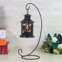 2015 New Fashion 1pc Iron Wedding Candle Holder Candlestick Glass Ball Lantern Hanging Stand Low Price VB505 P(China (Mainland))