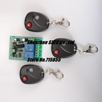 12V10A 2CH Transmitter & Receiver RF Wireless Remote Control Switch Security System For Light / Electronics