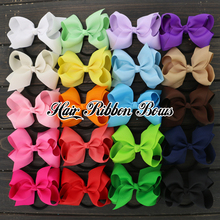 "40pcs/lot 4.5"" Grosgrain Bows WITH Elastic Headbands Hair Rubber Bands Boutique Kids Hair Ribbon Bows Hair Accessories(China (Mainland))"
