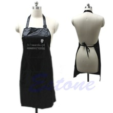 Free Shipping Black Adjustable Apron Bib Uniform With 2 Pockets Hairdresser Salon Hair Tool-S127(China (Mainland))